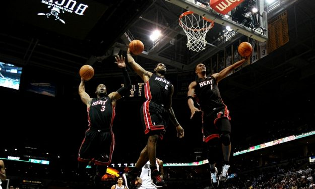 LeBron James & Dwyane Wade & Chris Bosh