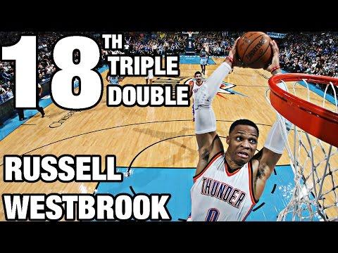 Triple-Double-Maschine Westbrook mit Nummer 18