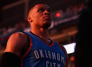 Russell Westbrook Oklahoma City Thunder NBA game