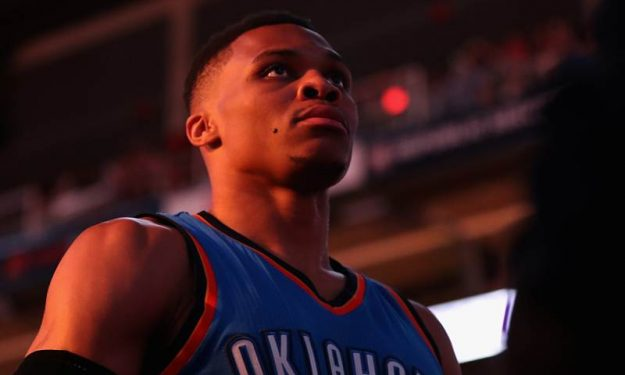 Russell Westbrook Oklahoma City Thunder NBA game