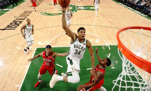 Giannis Duels With Anthony Davis Eurohoops