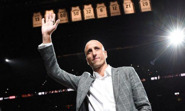 the latest 1b773 09bf6 San Antonio Spurs retire Manu Ginobili's jersey | Eurohoops
