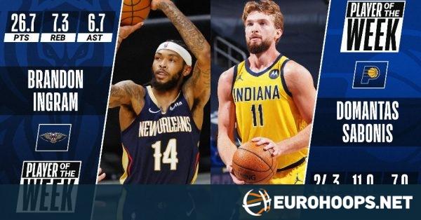 NBA: Haftanın Oyuncuları Samponis ve Ingram (fotoğraf)