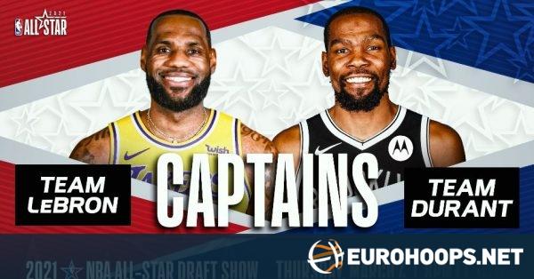 LeBron James ve Kevin Durant, NBA All-Star Kaptanları seçildi