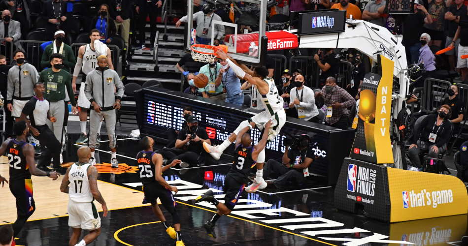 Giannis Antetokounmpo dominating NBA Finals in record-breaking fashion    Eurohoops